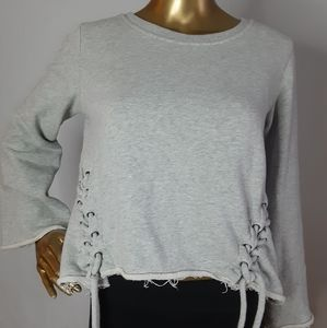 Betsey Johnson Tie Lace Large Sweater